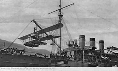 French Seaplane Tender Foudre with a Nieuport Floatplane