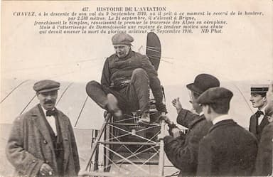 Géo Chávez on September 9, 1910 Two Weeks Earlier