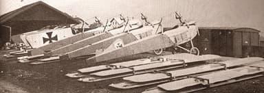 German AEG Reconnaissance Aircraft Preparing for Battle at Tolblach Airport