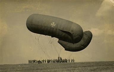 German Parseval-Siegsfeld Balloon as Wind Inflates Tail (September 1916)