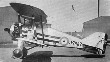 Gloster Grebe of No. 25 Squadron Royal Air Force