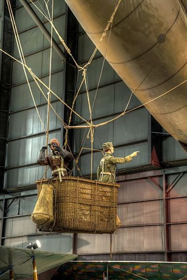 Gondola of Caquot Type R Observation Balloon at the USAF Museum