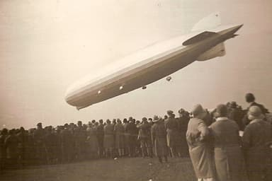 Graf Zeppelin Descending to Unknown Tethering Point (1930)