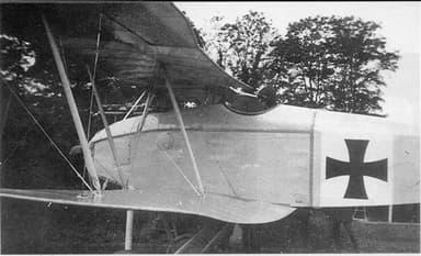 Halberstadt D.II Fighter Showing Lower Wing Trailing Edge Droop