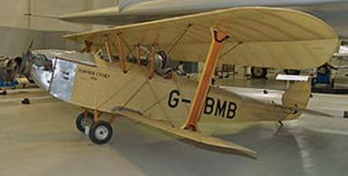 Hawker Cygnet G-EBMB at RAF Museum, Cosford