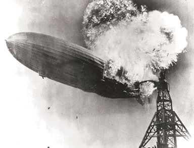 Hindenburg on Fire May 6, 1937