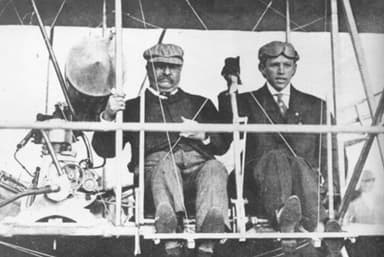 Hoxsey and Teddy Roosevelt before their flight (October 11, 1910)
