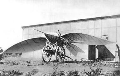 Jean-Marie Le Bris and his flying machine, Albatros II (1868)