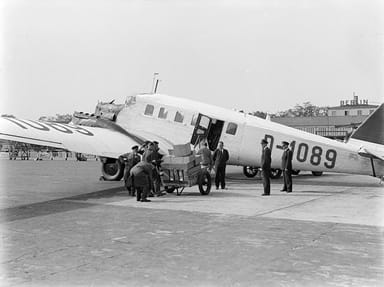 Junkers G 24 Taking Packages on Board (1934)