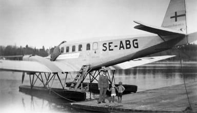 Junkers G24 of SAS Scandinavian Airlines