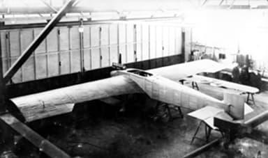 Junkers J 1 on Stilts in Hangar