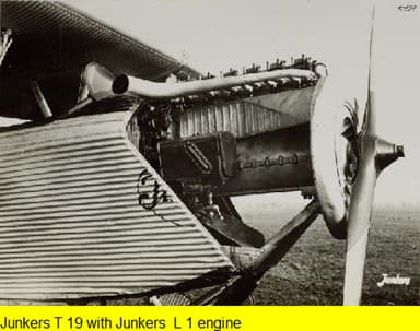 Junkers T 19 with Junkers L 1 Engine
