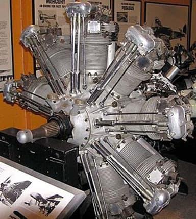 Jupiter Nine Cylinder Radial Piston Engine