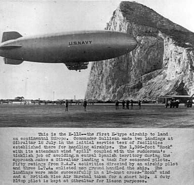 K-Class Blimp of USN Squadron ZP-14 off Gibraltar (1944 – 1945)