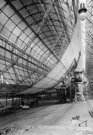 LZ-127 Graf Zeppelin Under Construction (1927)