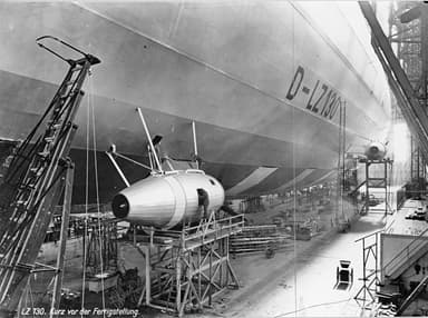 LZ 130 During Construction with Push-Type Engine Cars Installed (1938)
