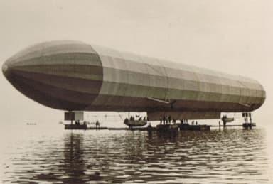 LZ2 Zeppelin Undergoing Pre-Flight Tests (1905)