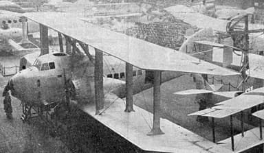 Latécoère 4 at the Salon d'Aéronautique in December, 1921