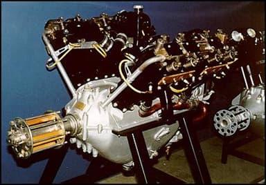 Lorraine-Dietrich 8Be Aircraft Engine