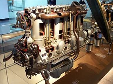 Maybach Mb.IVa Engine on Display in a Museum
