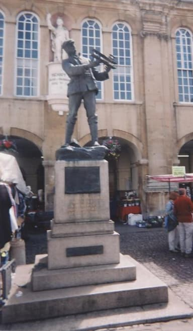 Memorial Statue of Charles Rolls in Monmouth, Wales Where Rolls Grew Up