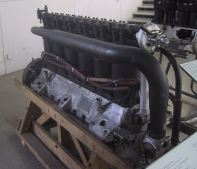 Mercedes D.IVa at the Deutsches Museum (Black Piping is Inlet Manifold)