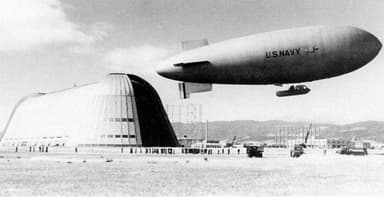 NAVY J-4 Patrol Airship Circa 1944 at Moffett Field Navy Base