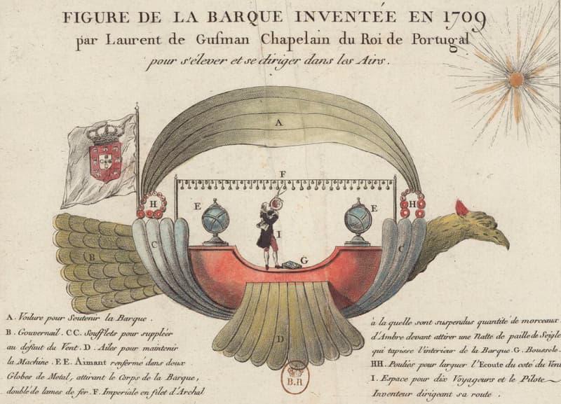 Passarola, Bartolomeu de Gusmão's Airship (1709)