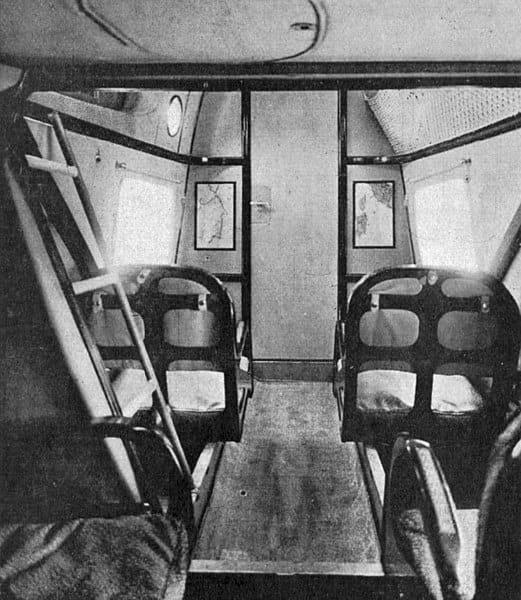 Passenger Accommodation Aboard Savoia-Marchetti S.55