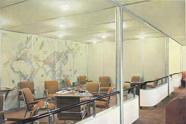 Passenger Lounge on L-129 Hindenburg