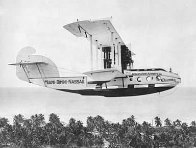 Passenger Version Over Bahamas (1921)