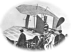 People Viewing Karl Jatho's Flying Machine