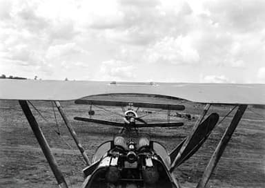 Pilot's View from the Cockpit of a Camel, June 1918
