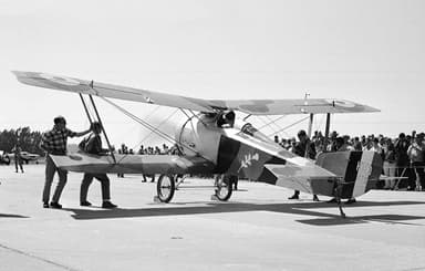 Preserved Hanriot HD.14 at Watsonville, California 1967 or 1968