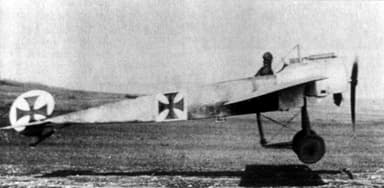 Profile View of an Eindecker at Take Off (1915 / 1916)
