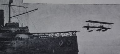 Protected Cruiser HMS Hermes Converted into a Seaplane Carrier