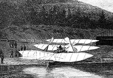Rear View Of The Kress Waterborne Aeroplane On Shore (October, 1901)