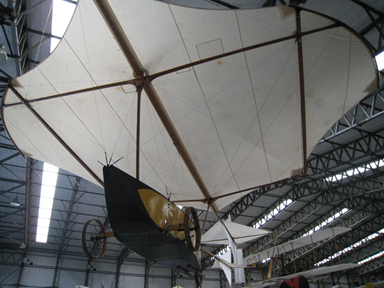 Reconstruction of Cayley's glider at the Yorkshire Air Museum