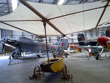 Replica of Cayley's glider at the Yorkshire Air Museum
