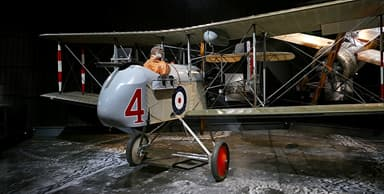 Reproduction of a DH.2 on Static Display (Note Gun Mount)