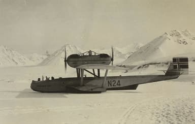 Roald Amundsen's Dornier Wal Landed on Ice at New Ålesund, Norway (1925)