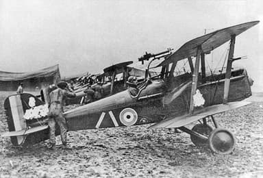 S.E.5a Fighter with Serial Numbers Censored on Photo