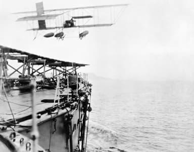 Samson's Historic Take Off from HMS Hibernia, 9 May 1912