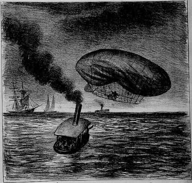 Santos Dumont's Accident on February 14, 1902 with No 6