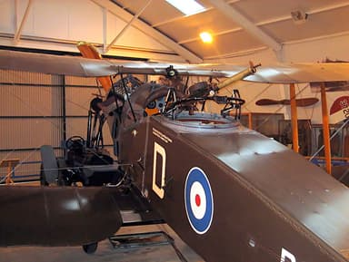 Scarff Ring on a Bristol F.2B at the Shuttleworth Collection