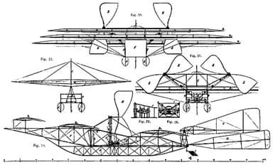 Schematic of The Kress Waterborne Aeroplane (1901)