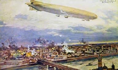 Schütte-Lanz S.L.2 Bombing Warsaw in 1914