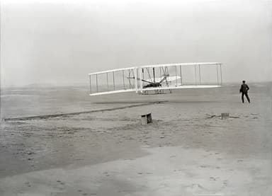 Seconds Into the First Airplane Flight (December 17, 1903)