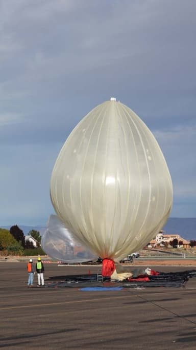 Semi-Inflated Hull at Launch (December 4, 2005)
