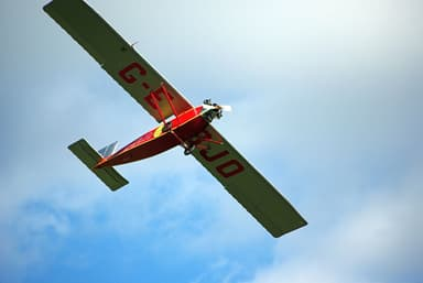 Shuttleworth Collection's ANEC II Flies on a Calm Summer Day